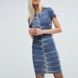 ASOS Tie Dye Midi T-Shirt dress